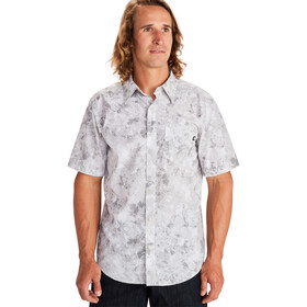 Marmot Bennett Peak Shirt Korte Mouwen Heren, light grey leaf camo